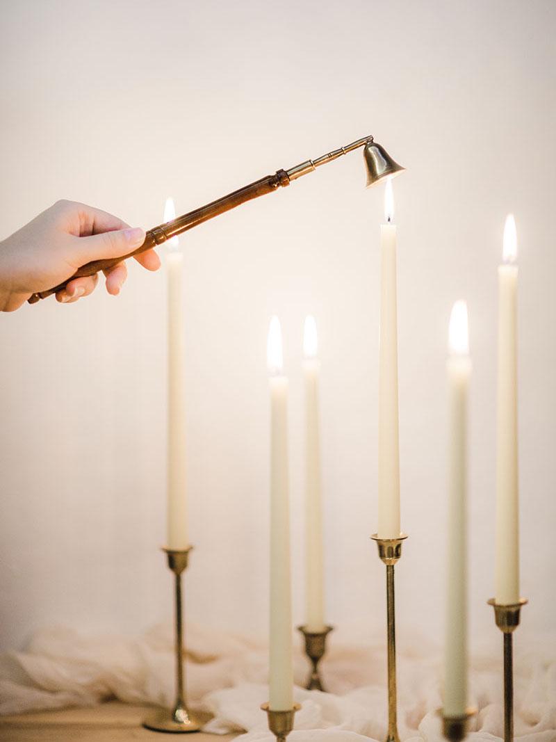 Тонкие конусные свечи ручной работы Высокие Длинные свечи из натурального пчелиного воска taper beeswax candles