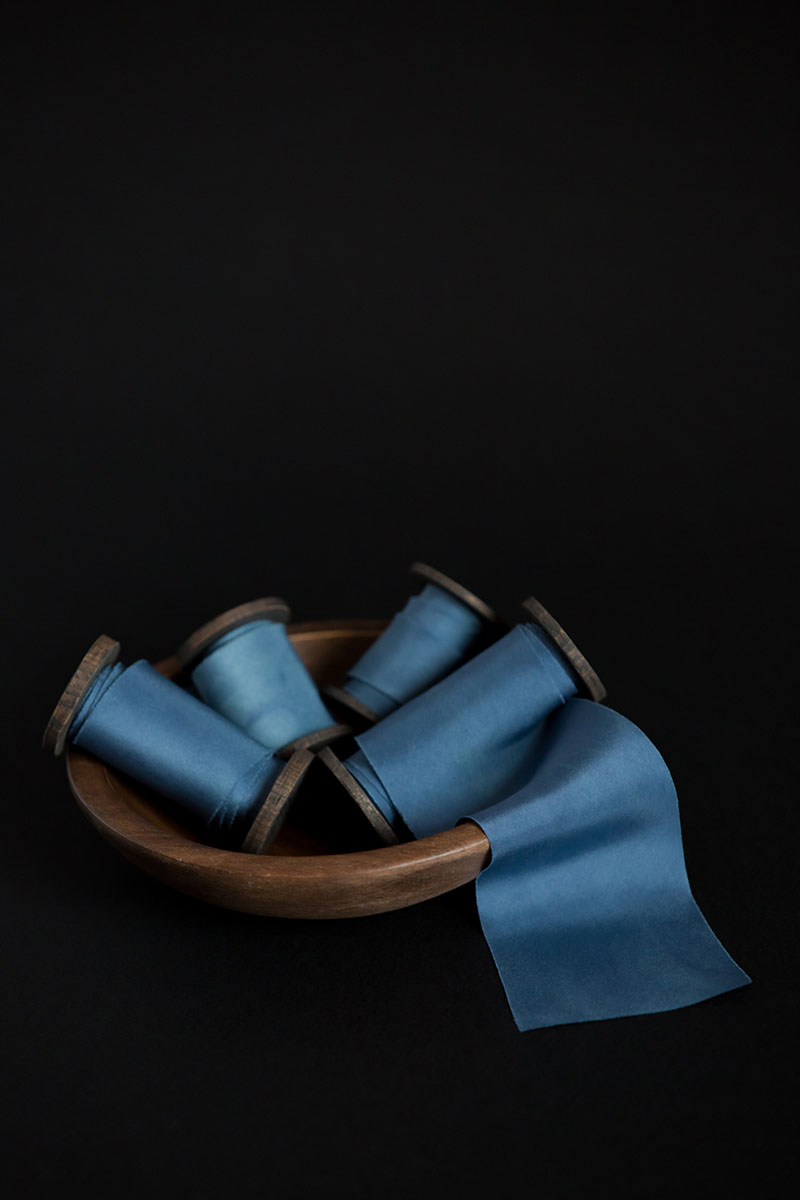 Bark-and-Berry-hand-plant-dyed-wedding-bias-cut-silk-ribbons-bohemian-blue-005
