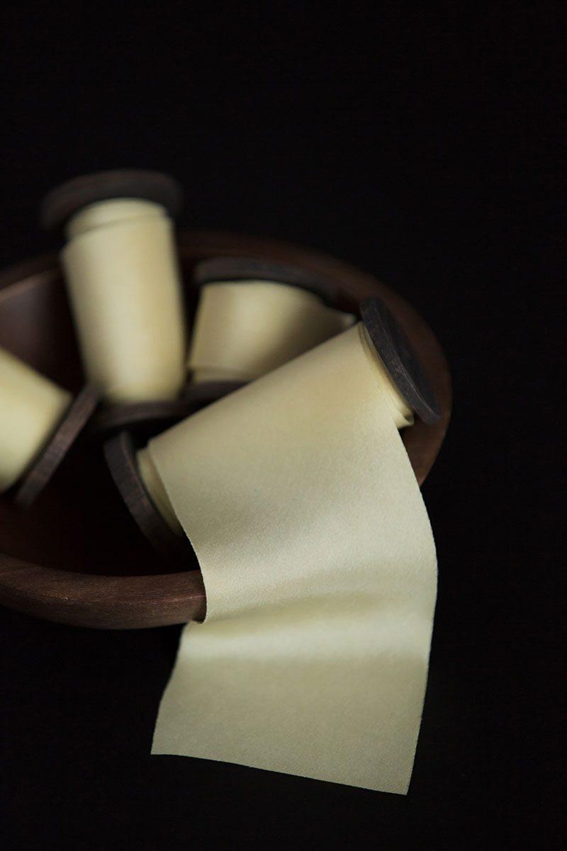 Bark-and-Berry-hand-plant-dyed-wedding-bias-cut-silk-ribbons-lemon-chiffon-004