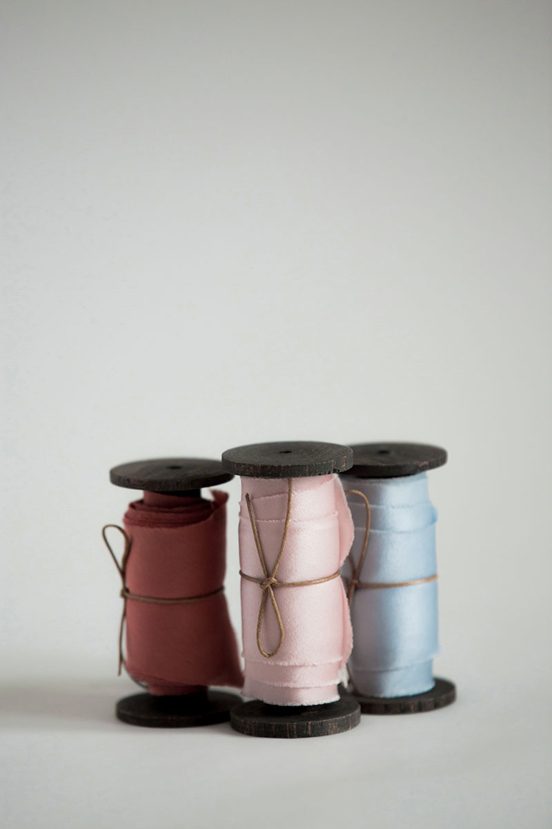 Bark-and-Berry-hand-plant-dyed-wedding-bias-cut-silk-satin-ribbons-set-rusty-rose-pale-pink-pale-blue-001