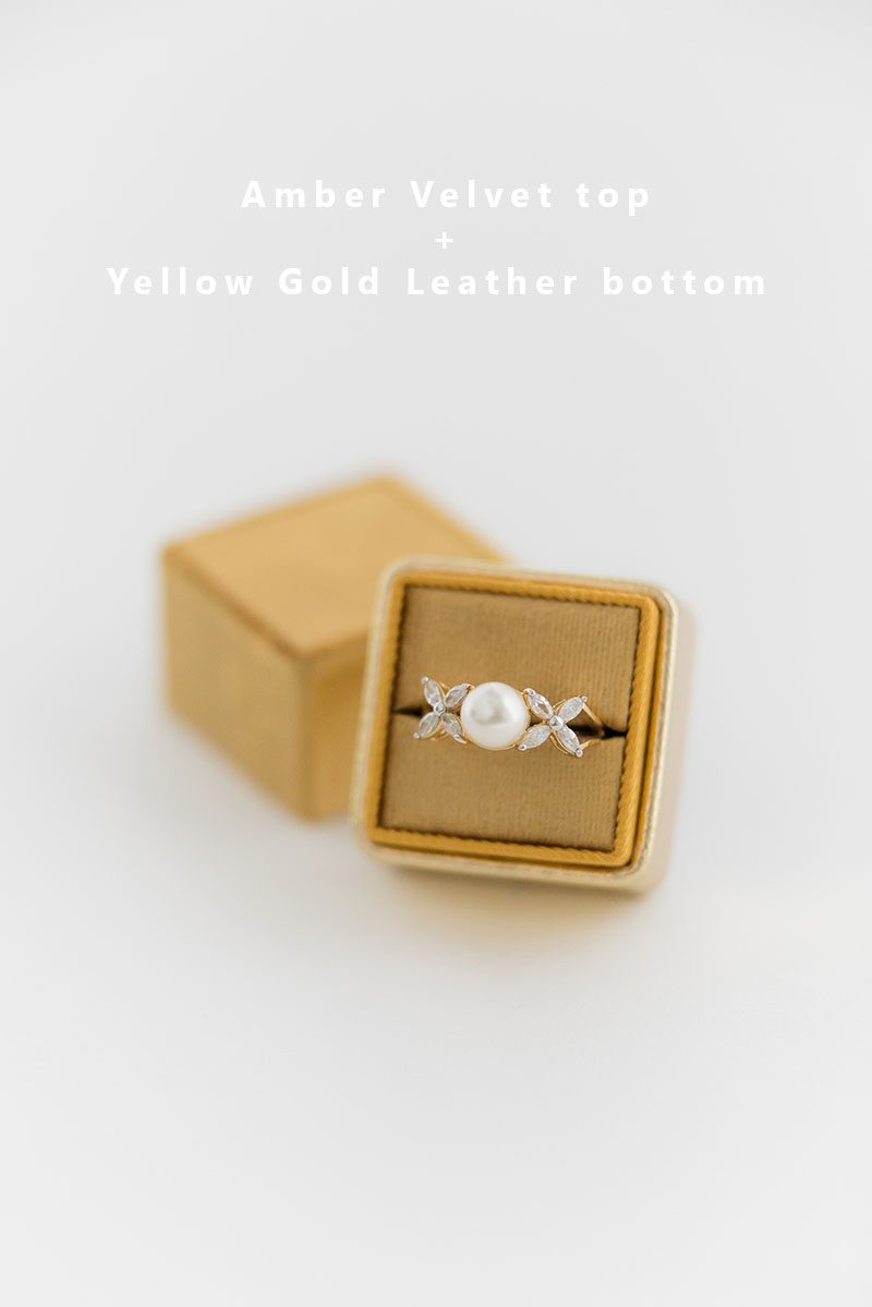 Bark-and-Berry-Amber-Yellow-Gold-double-slot-vintage-wedding-embossed-monogram-velvet-leather-ring-box-002