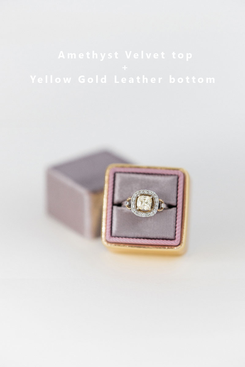 Bark-and-Berry-Amethyst-Yellow-Gold-double-slot-vintage-wedding-embossed-monogram-velvet-leather-ring-box-002