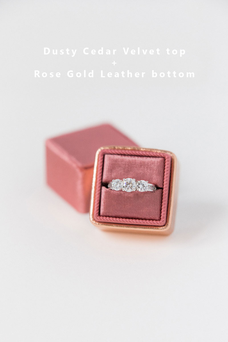 Bark-and-Berry-Dusty-Cedar-Rose-Gold-double-slot-vintage-wedding-embossed-monogram-velvet-leather-ring-box-002