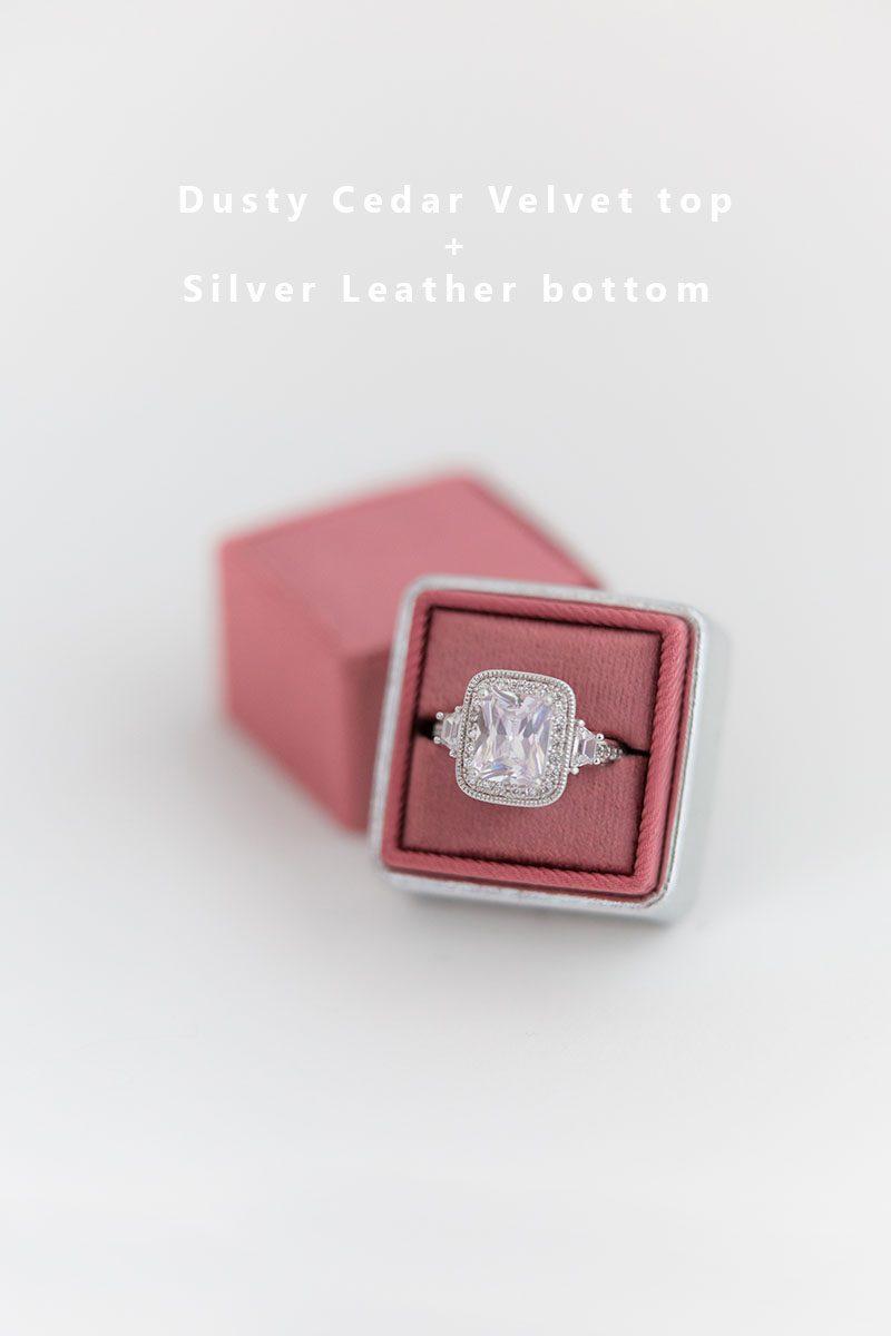 Bark-and-Berry-Dusty-Cedar-Silver-double-slot-vintage-wedding-embossed-monogram-velvet-leather-ring-box-002