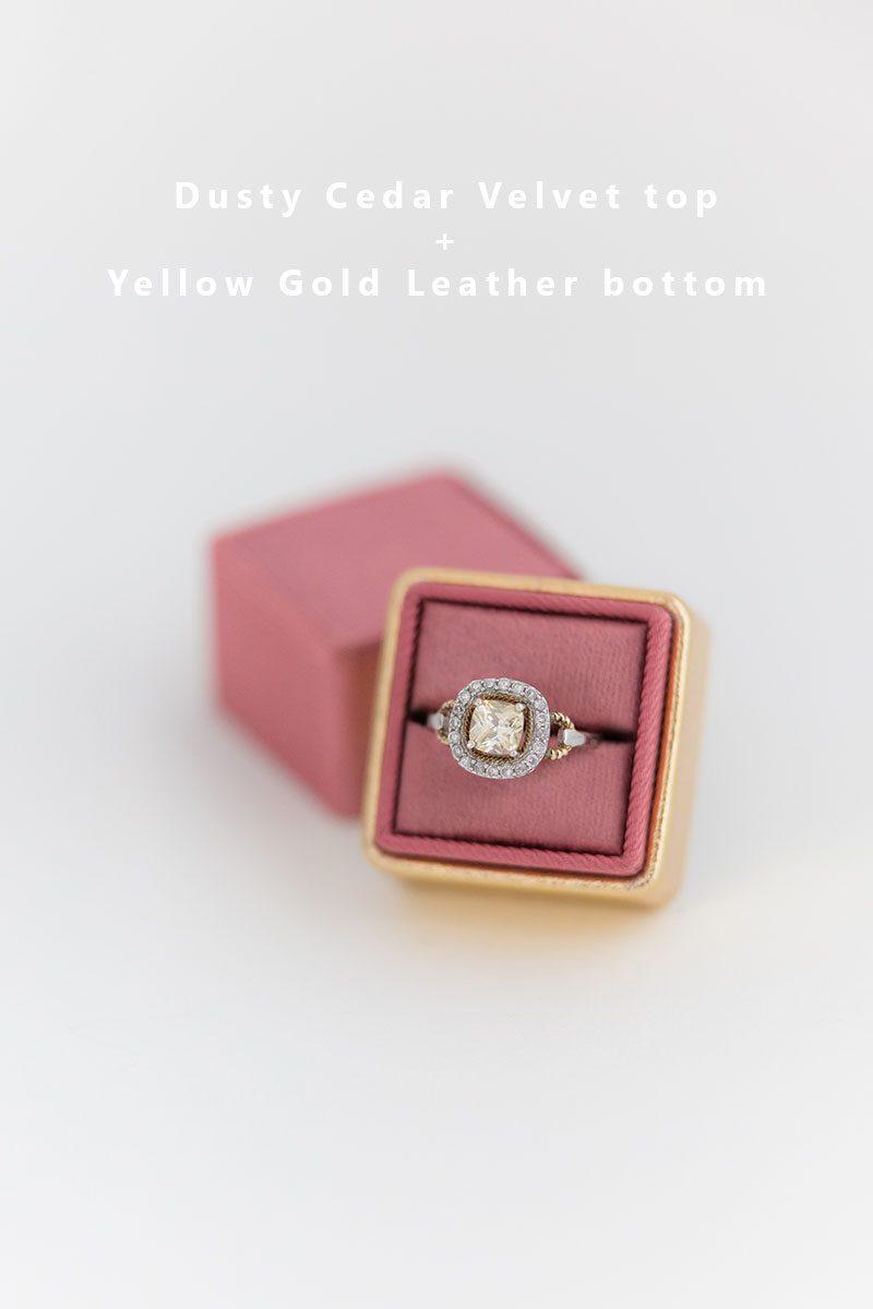 Bark-and-Berry-Dusty-Cedar-Yellow-Gold-double-slot-vintage-wedding-embossed-monogram-velvet-leather-ring-box-002