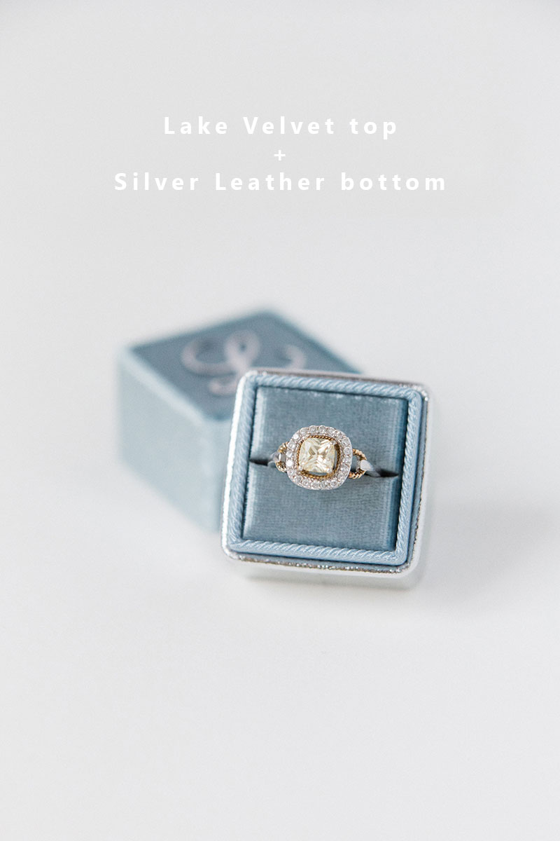 Bark-and-Berry-Lake-Silver-double-slot-vintage-wedding-embossed-monogram-velvet-leather-ring-box-002