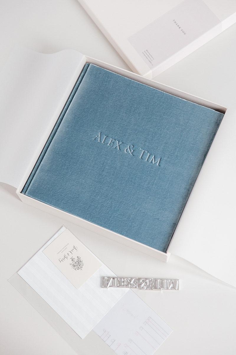 Bark-and-Berry-Lake-vintage-velvet-wedding-embossed-monogram-guest-book-photoalbum-002