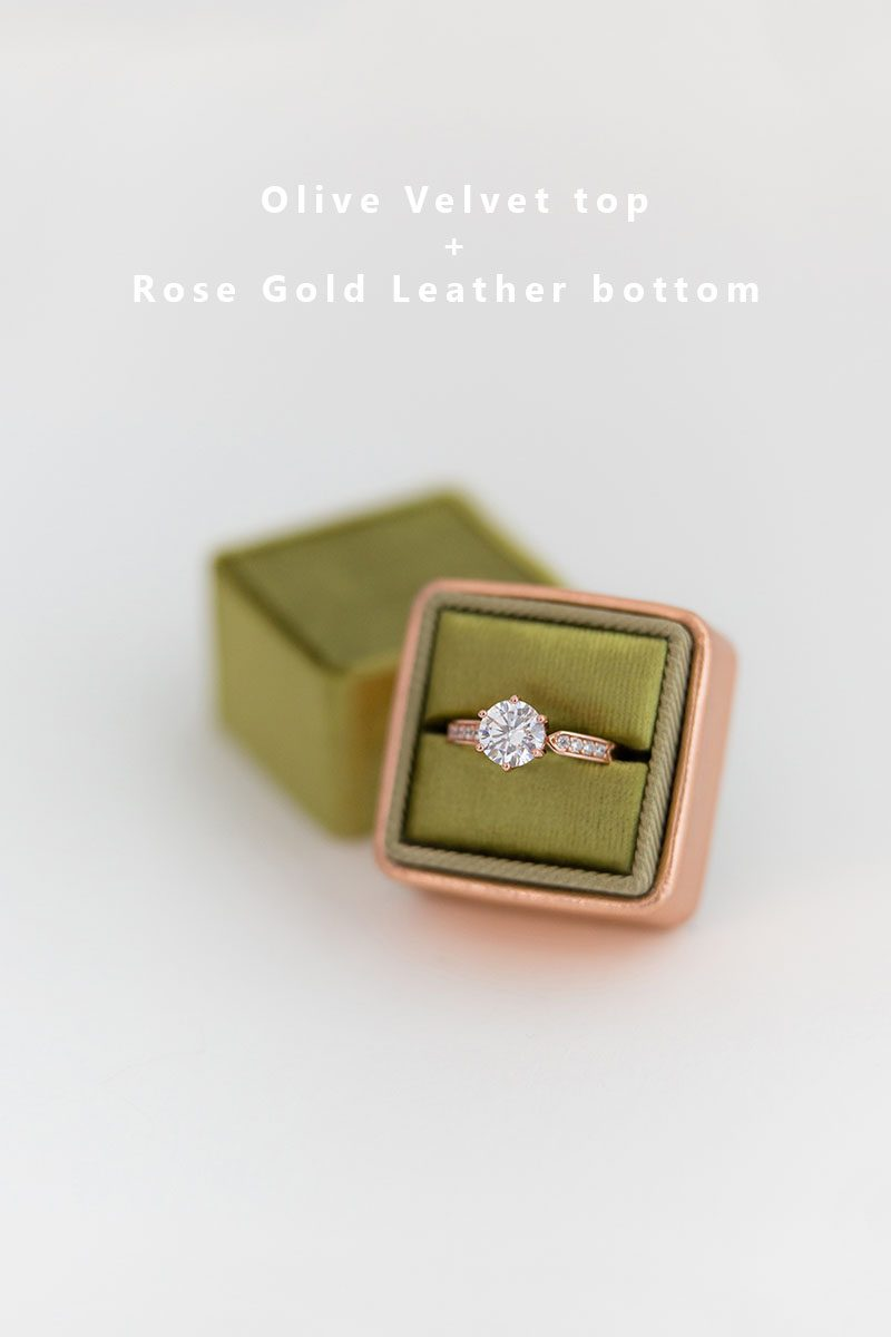 Bark-and-Berry-Olive-Rose-Gold-double-slot-vintage-wedding-embossed-monogram-velvet-leather-ring-box-002