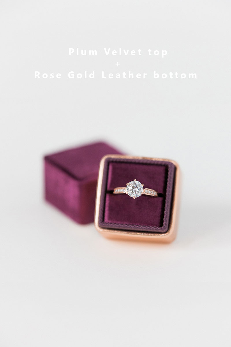 Bark-and-Berry-Plum-Rose-Gold-double-slot-vintage-wedding-embossed-monogram-velvet-leather-ring-box-002