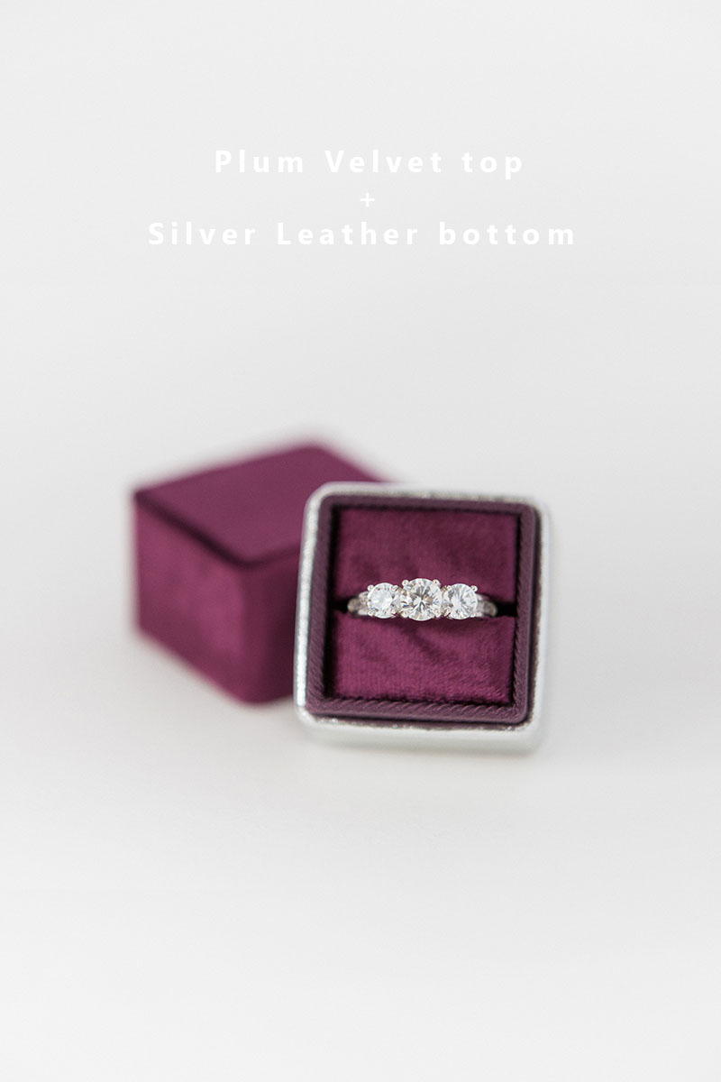Bark-and-Berry-Plum-Silver-double-slot-vintage-wedding-embossed-monogram-velvet-leather-ring-box-002