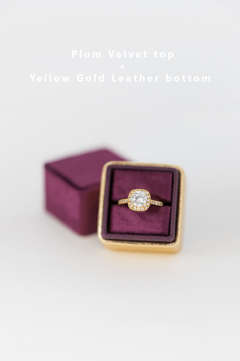 Bark-and-Berry-Plum-Yellow-Gold-double-slot-vintage-wedding-embossed-monogram-velvet-leather-ring-box-002
