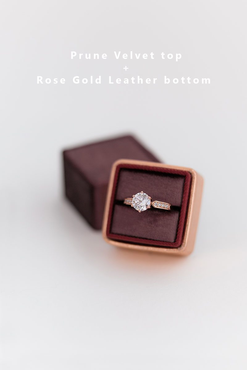Bark-and-Berry-Prune-Rose-Gold-double-slot-vintage-wedding-embossed-monogram-velvet-leather-ring-box-002