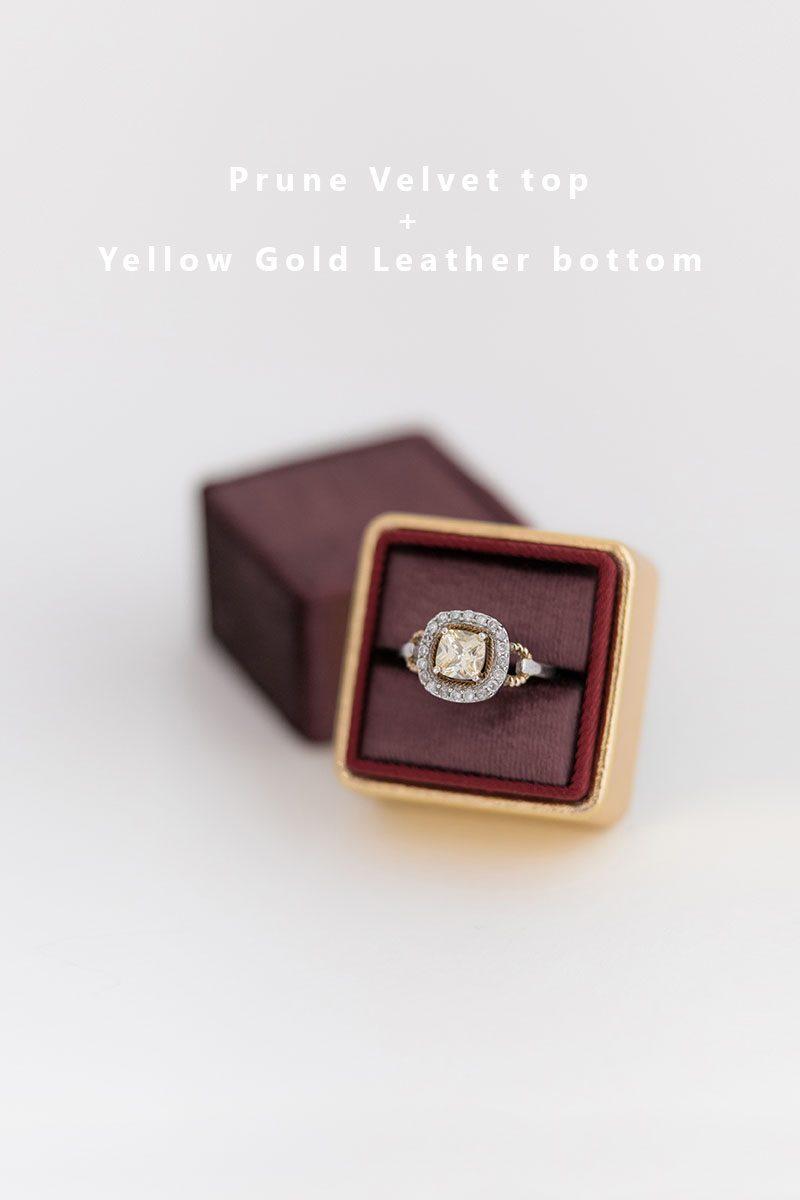 Bark-and-Berry-Prune-Yellow-Gold-double-slot-vintage-wedding-embossed-monogram-velvet-leather-ring-box-002