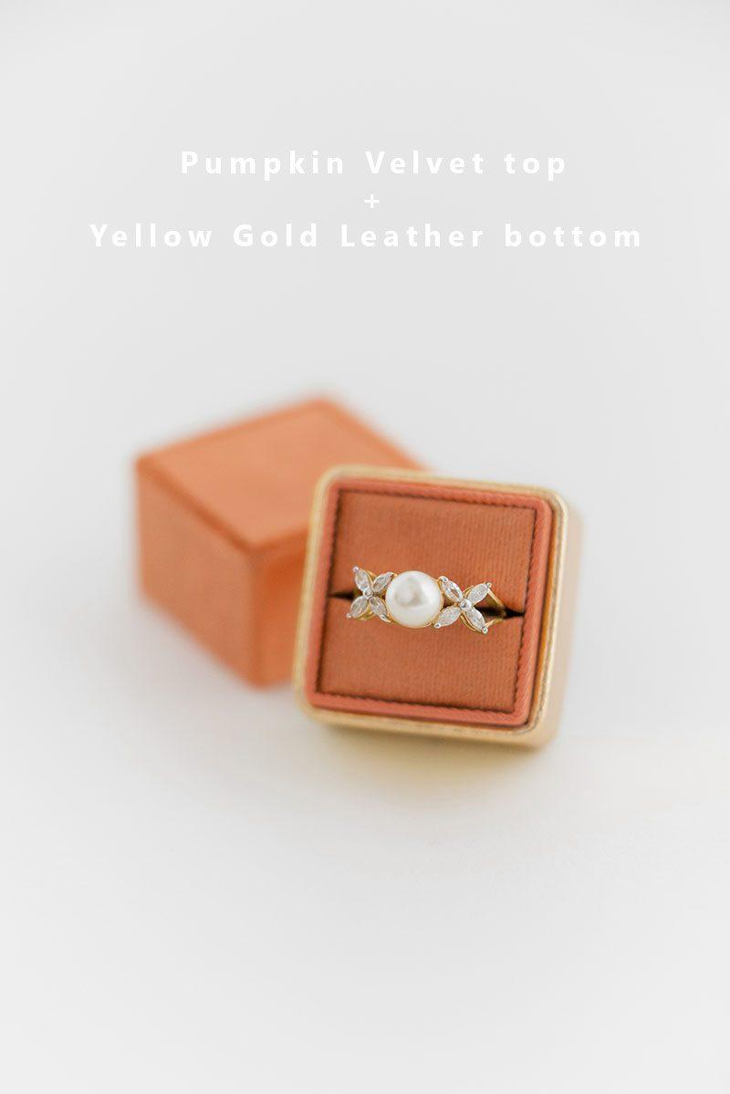 Bark-and-Berry-Pumpkin-Yellow-Gold-double-slot-vintage-wedding-embossed-monogram-velvet-leather-ring-box-002