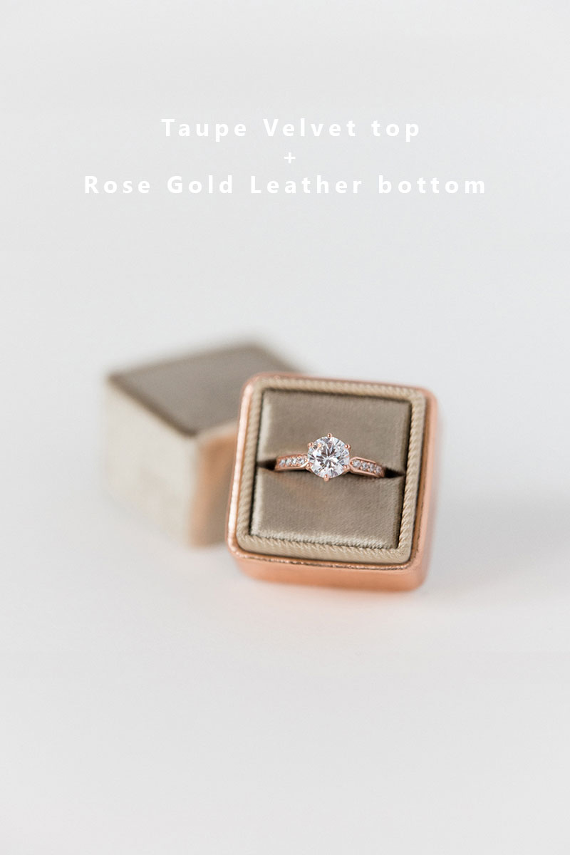 Bark-and-Berry-Taupe-Rose-Gold-double-slot-vintage-wedding-embossed-monogram-velvet-leather-ring-box-002