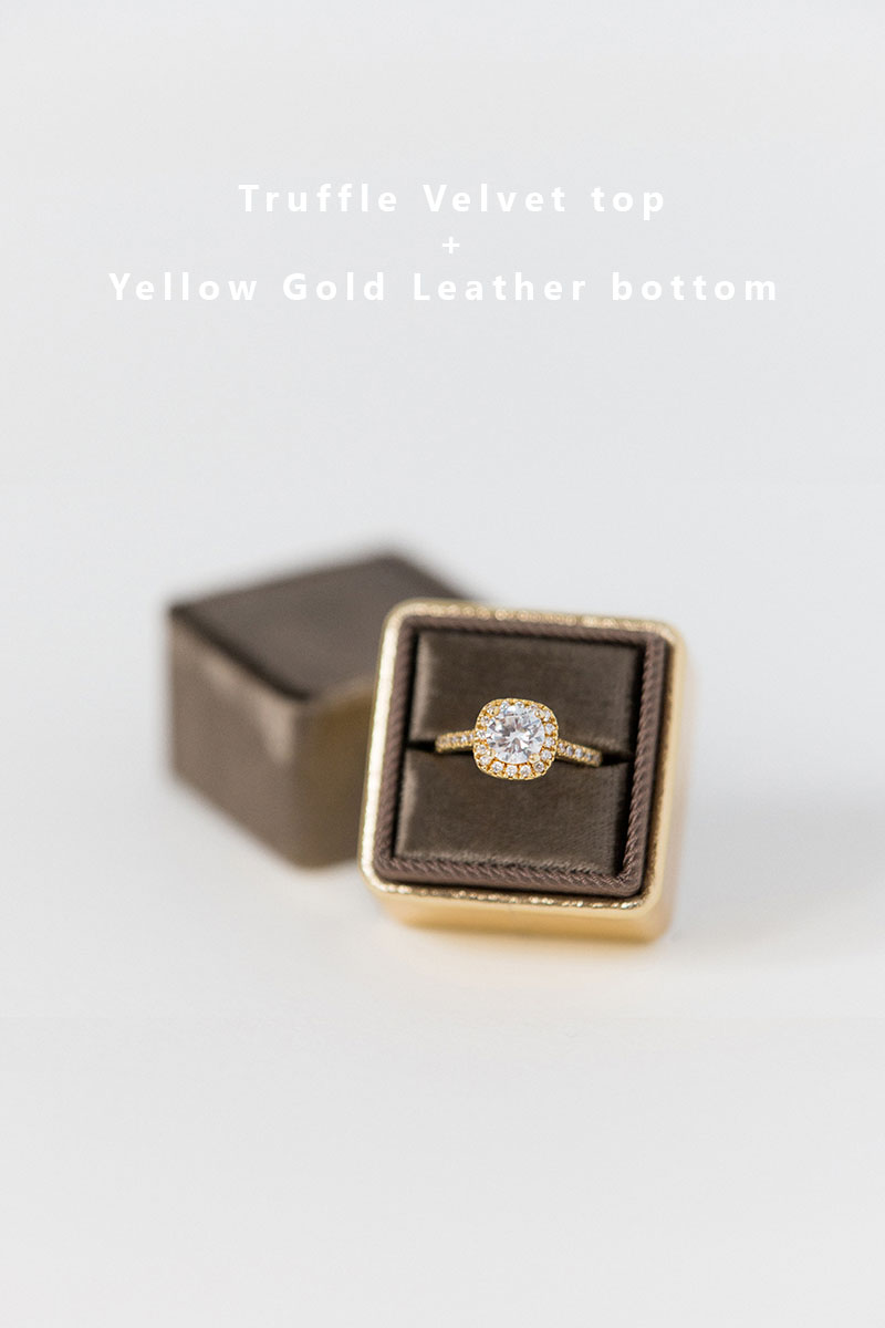 Bark-and-Berry-Truffle-Yellow-Gold-double-slot-vintage-wedding-embossed-monogram-velvet-leather-ring-box-002