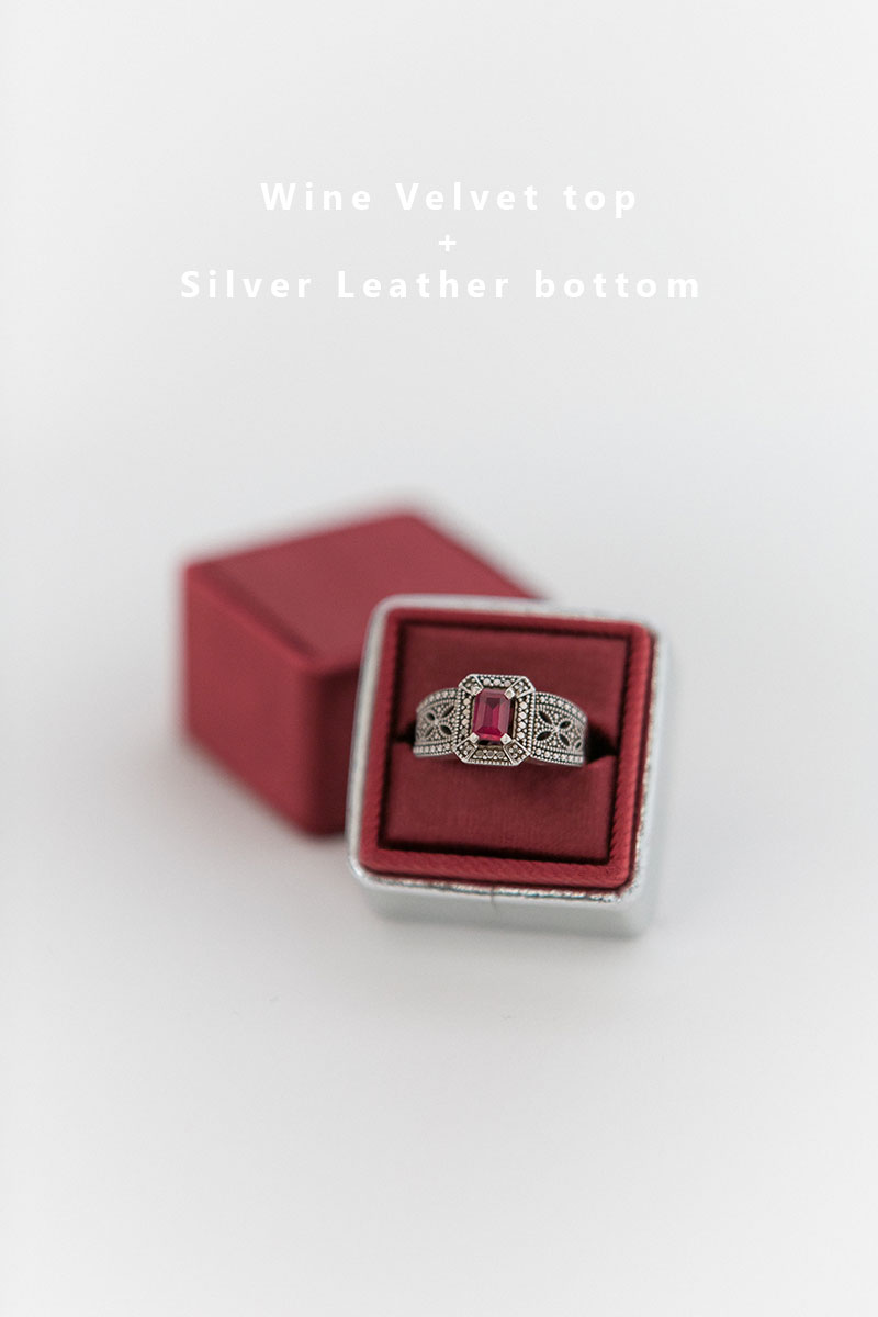 Bark-and-Berry-Wine-Silver-double-slot-vintage-wedding-embossed-monogram-velvet-leather-ring-box-002