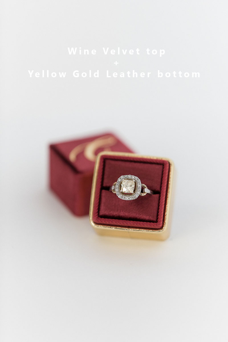 Bark-and-Berry-Wine-Yellow-Gold-double-slot-vintage-wedding-embossed-monogram-velvet-leather-ring-box-002