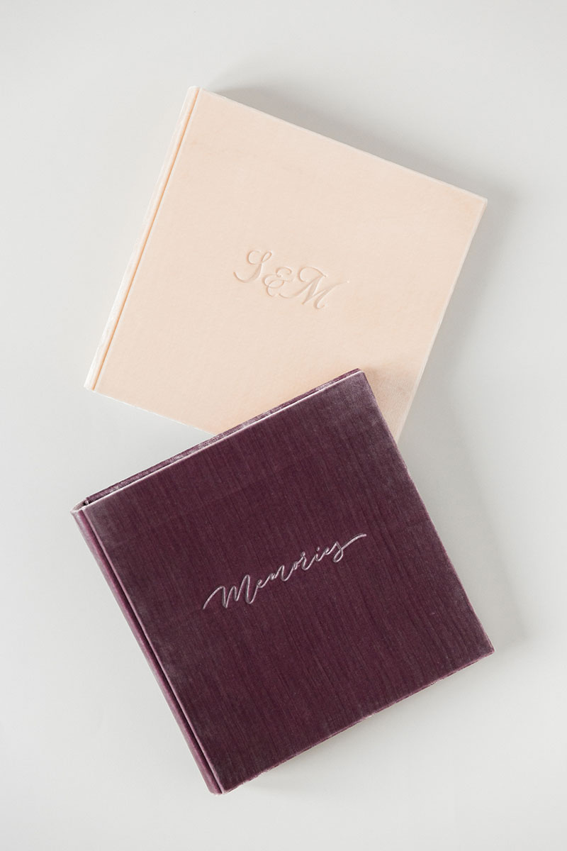Bark-and-Berry-vintage-velvet-linen-wedding-embossed-monogram-guest-book-photoalbum-030