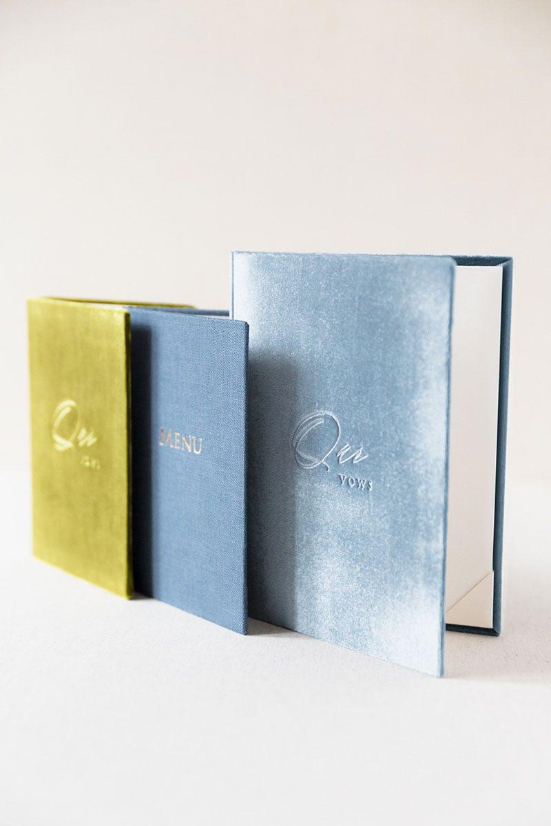 Bark-and-Berry-Olive-Lake-Stone-vintage-linen-velvet-wedding-embossed-monogram-vows-folder-book-001