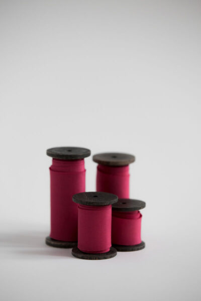 Шелковая лента для букета окрашена вручную натуральными красителями