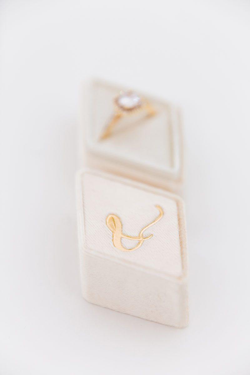Bark-and-Berry-Cream-vintage-wedding-embossed-monogram-diamond-velvet-ring-box-002