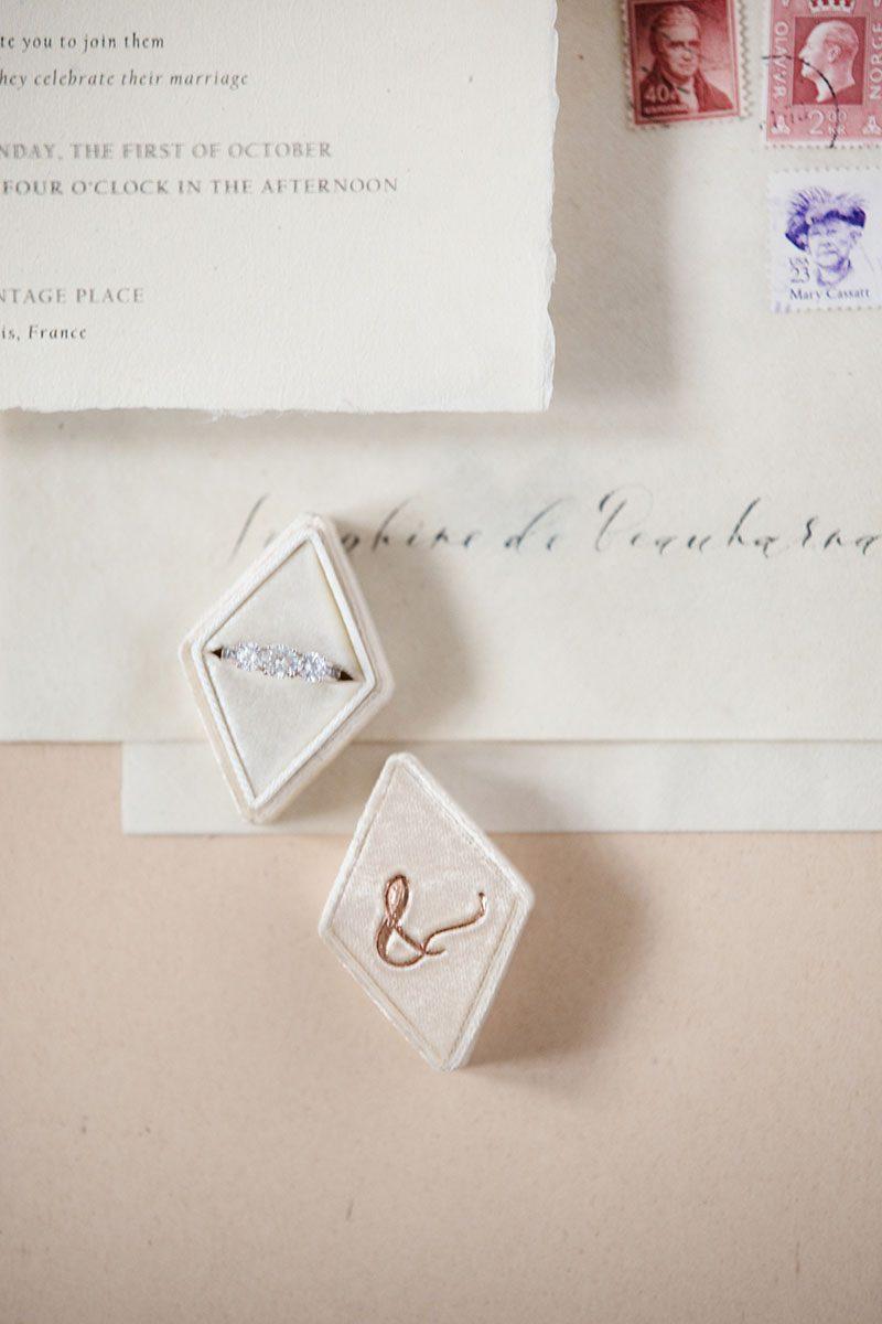 Bark-and-Berry-Cream-vintage-wedding-embossed-monogram-diamond-velvet-ring-box-003