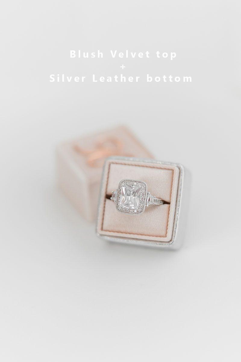 Bark-and-Berry-Blush-Silver-double-slot-vintage-wedding-embossed-monogram-velvet-leather-ring-box-002