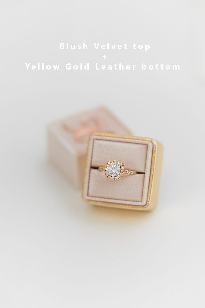 Bark-and-Berry-Blush-Yellow-Gold-double-slot-vintage-wedding-embossed-monogram-velvet-leather-ring-box-002