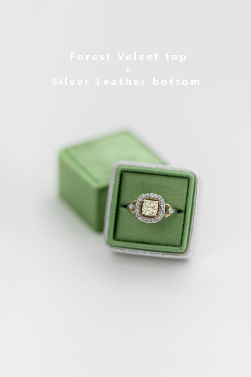 Bark-and-Berry-Forest-Silver-double-slot-vintage-wedding-embossed-monogram-velvet-leather-ring-box-002