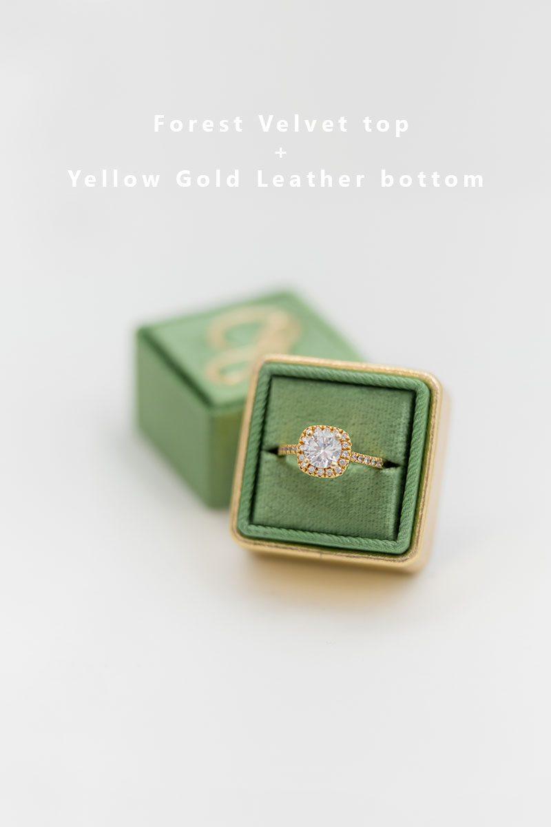 Bark-and-Berry-Forest-Yellow-Gold-double-slot-vintage-wedding-embossed-monogram-velvet-leather-ring-box-002