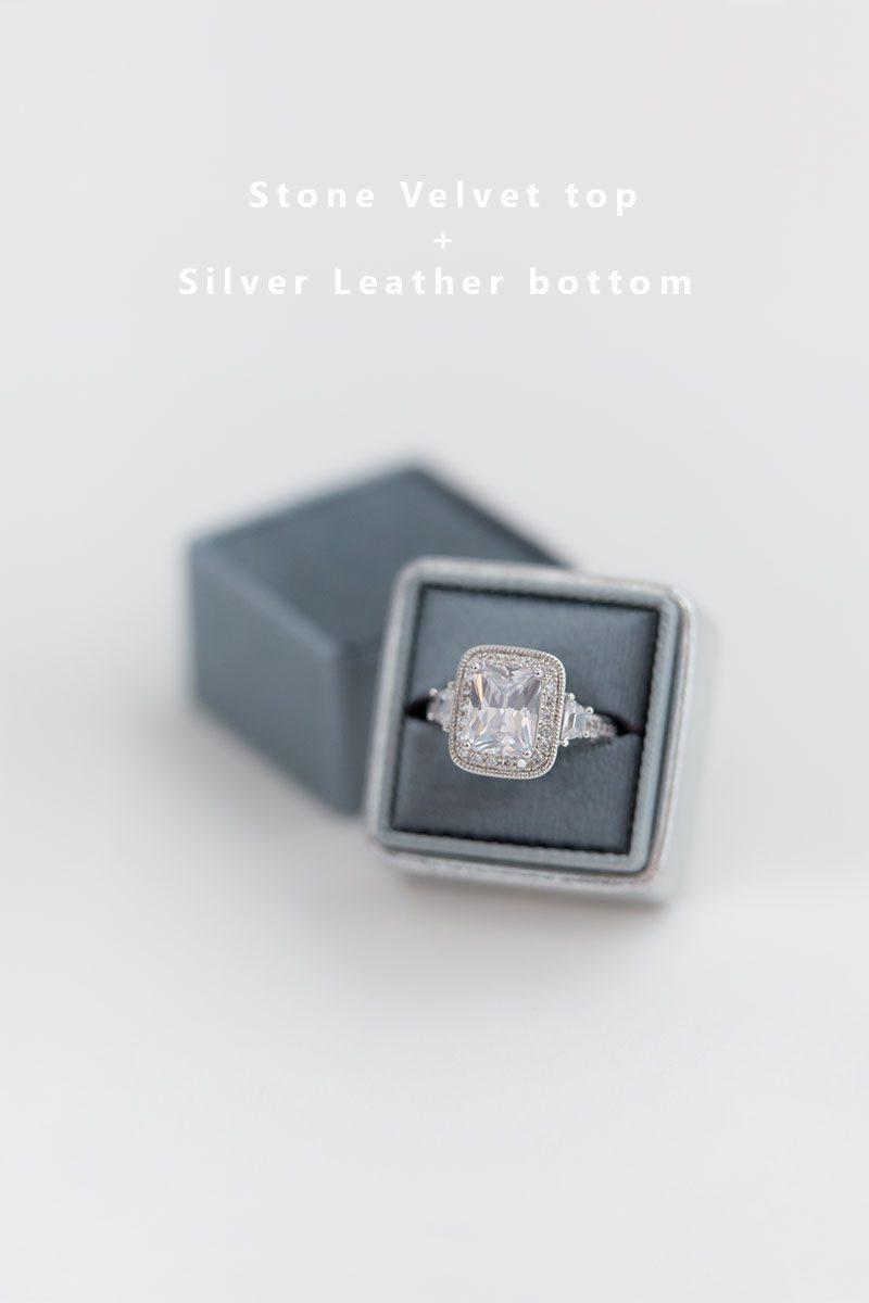 Bark-and-Berry-Stone-Silver-double-slot-vintage-wedding-embossed-monogram-velvet-leather-ring-box-002