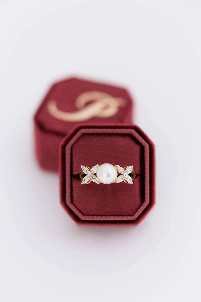 Bark-and-Berry-Wine-double-slot-vintage-wedding-embossed-monogram-octagon-velvet-ring-box-001