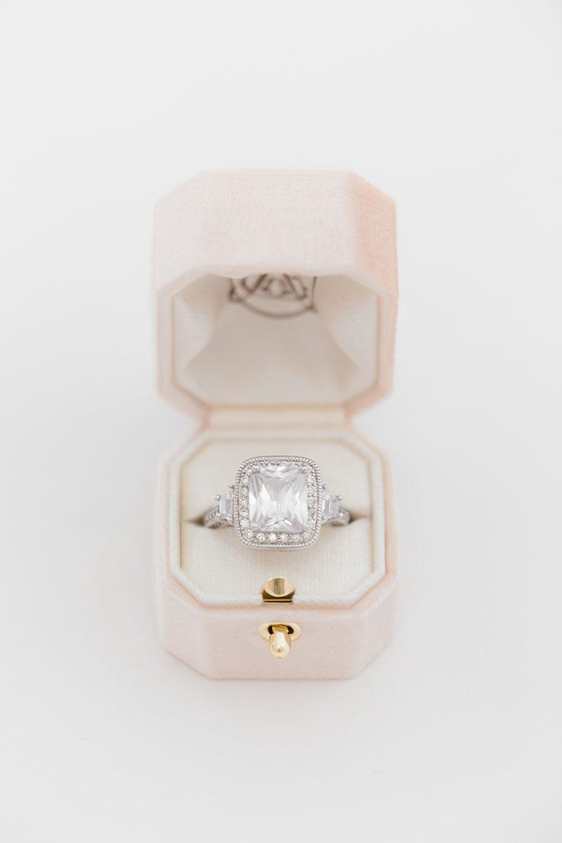 Bark-and-Berry-Blush-vintage-wedding-embossed-monogram-octagon-velvet-ring-box-with-lock-001