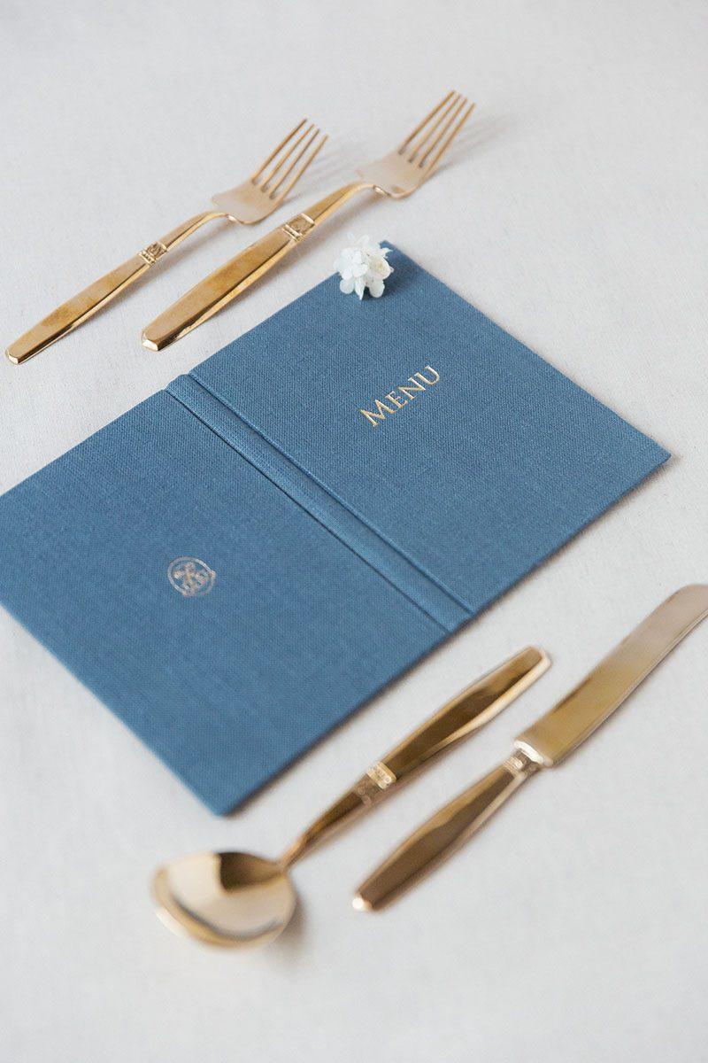 Bark-and-Berry-Stone-vintage-linen-silk-wedding-embossed-monogram-folder-menu-vows-book-003