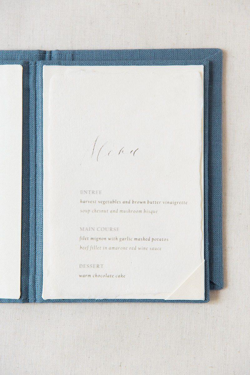 Bark-and-Berry-Stone-vintage-linen-silk-wedding-embossed-monogram-folder-menu-vows-book-004