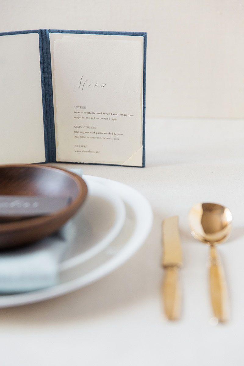Bark-and-Berry-Stone-vintage-linen-silk-wedding-embossed-monogram-folder-menu-vows-book-006