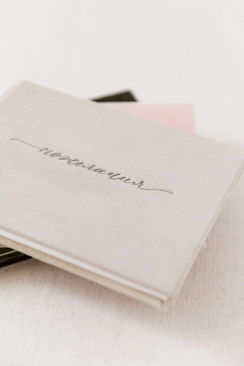 Bark-and-Berry-Anne-vintage-genuine-suede-wedding-embossed-monogram-guest-book-001