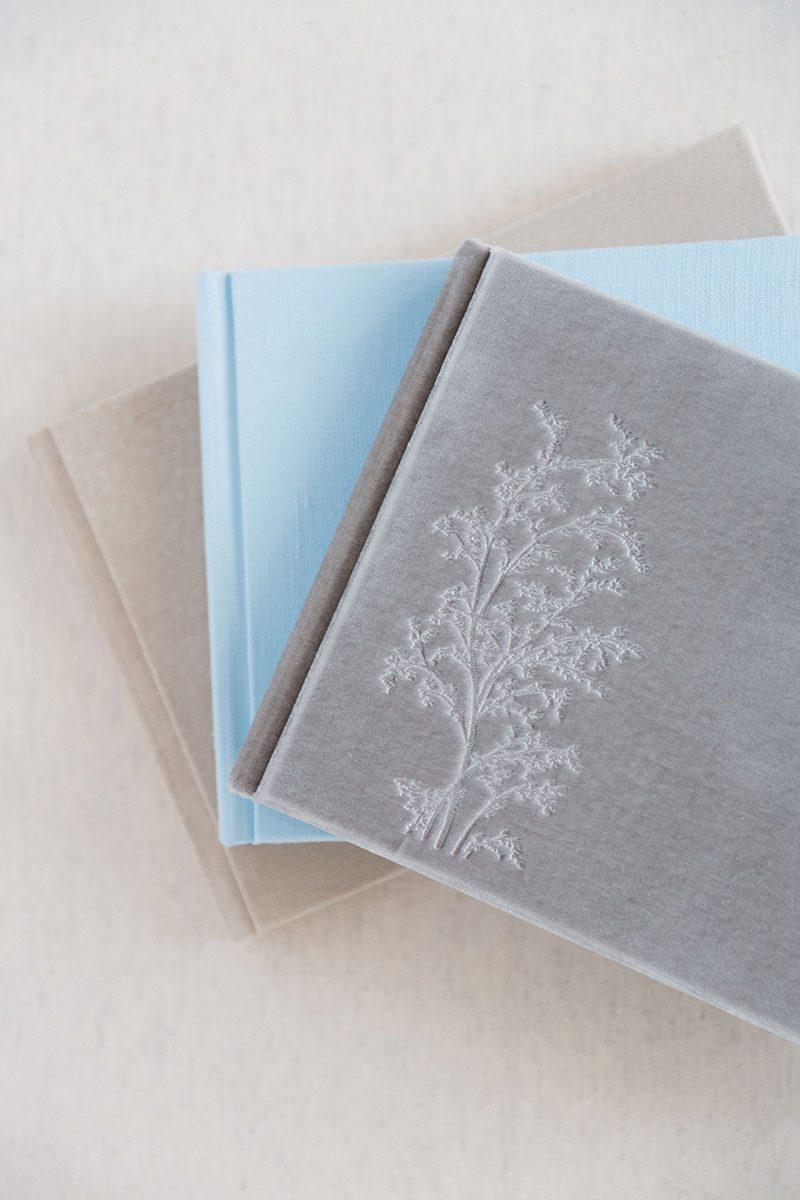Bark-and-Berry-Azure-Fossil-Anne-vintage-genuine-suede-velvet-linen-wedding-embossed-monogram-guest-book-002