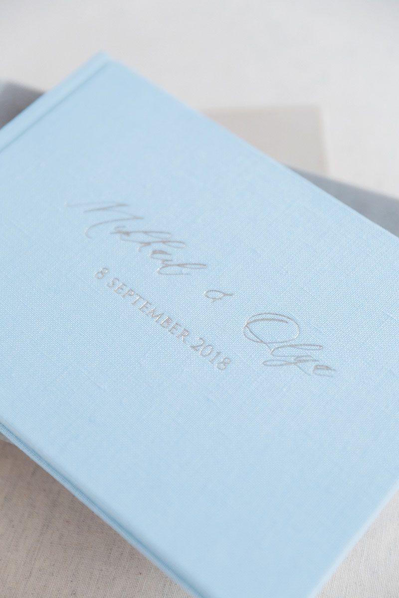 Bark-and-Berry-Azure-Fossil-Anne-vintage-genuine-suede-velvet-linen-wedding-embossed-monogram-guest-book-004