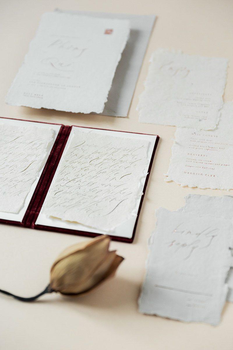 Bark-and-Berry-Wine-vintage-velvet-wedding-embossed-monogram-vertical-guest-book-004