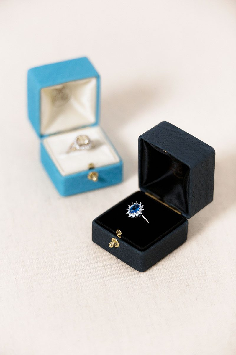 Bark-and-Berry-Grand-Ironstone-Cerulean-double-slot-vintage-wedding-embossed-double-monogram-velvet-leather-suede-ring-box-001