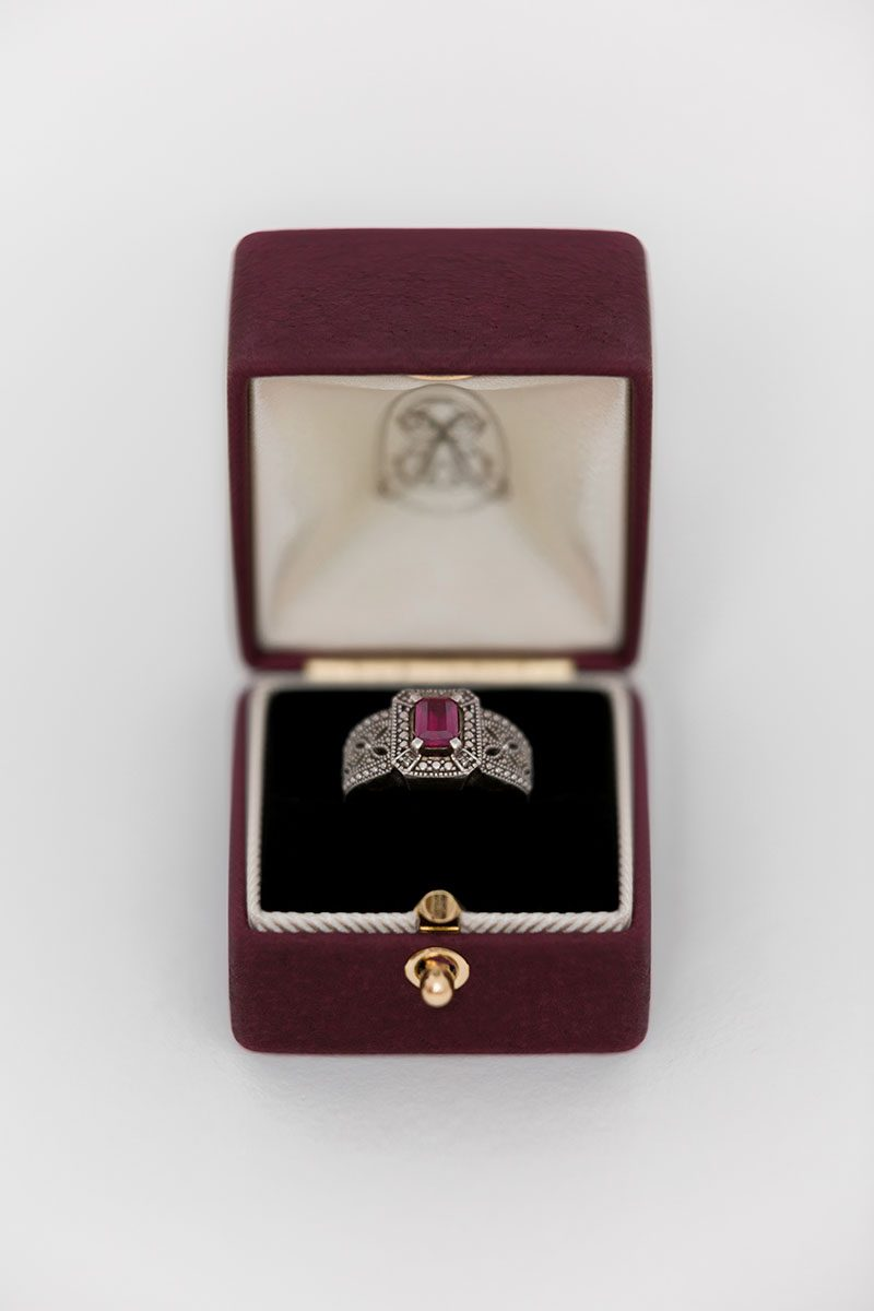 Bark-and-Berry-Grand-Victoria-double-slot-vintage-wedding-embossed-double-monogram-velvet-leather-suede-ring-box-001