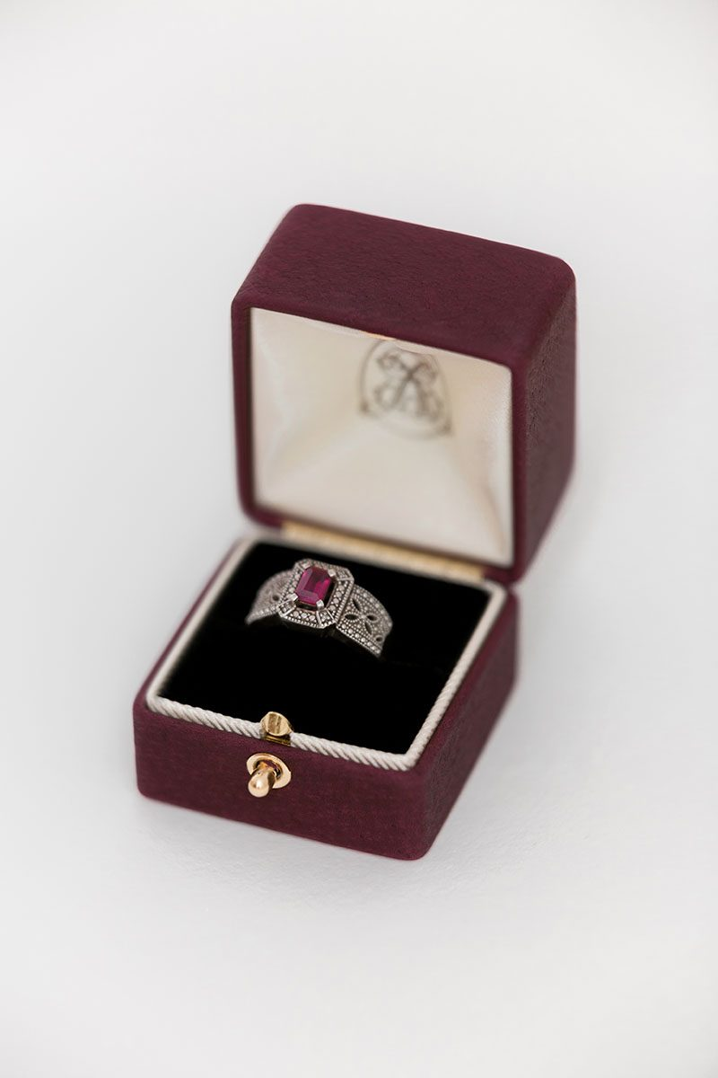 Bark-and-Berry-Grand-Victoria-double-slot-vintage-wedding-embossed-double-monogram-velvet-leather-suede-ring-box-002