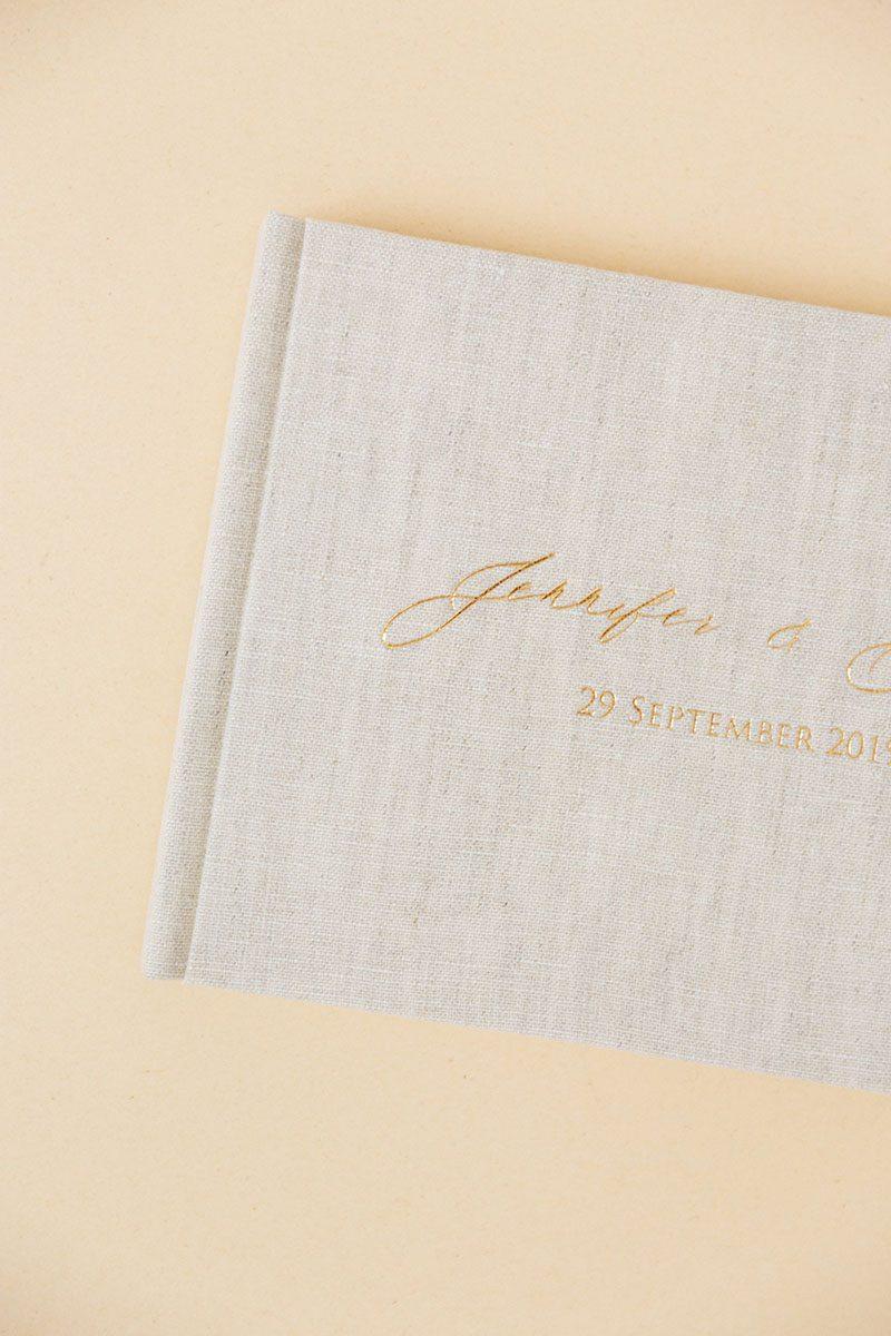 Bark-and-Berry-Oat-vintage-wedding-embossed-monogram-linen-guest-book-002