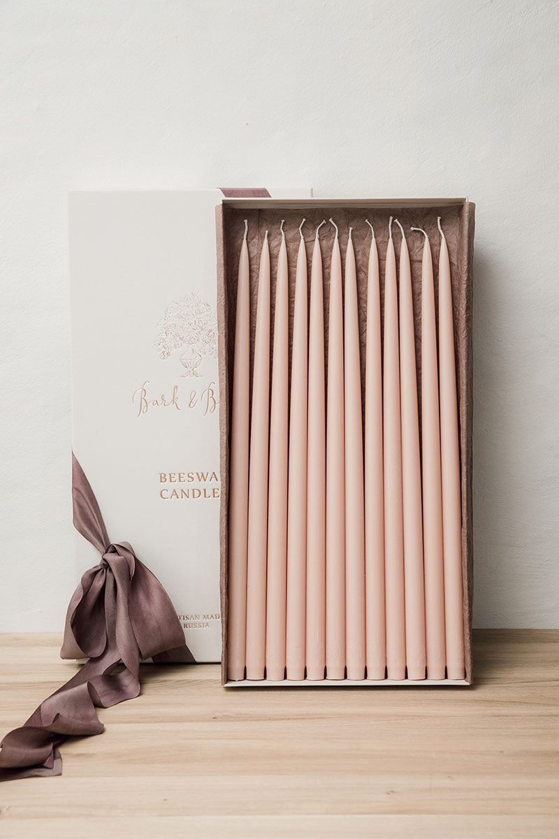 Bark-and-Berry-homemade-wedding-beeswax-tall-taper-thin-color-gift-celebration-candles-460mm-002