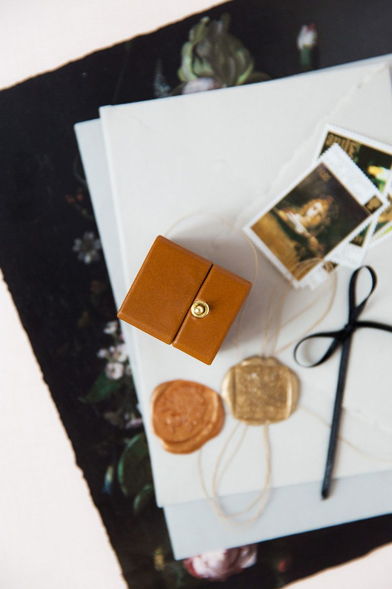 Bark-and-Berry-Alix-vintage-wedding-embossed-monogram-velvet-leather-ring-box-006