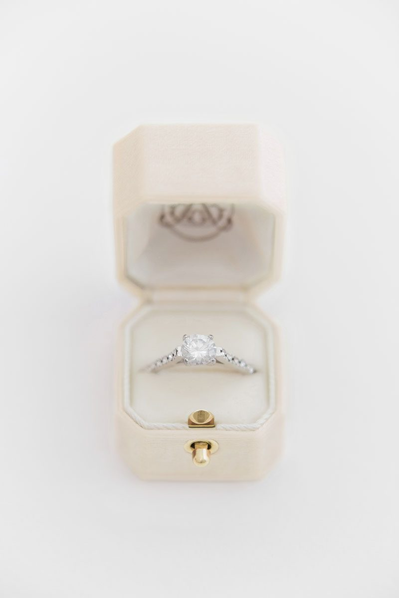 Bark-and-Berry-Cream-vintage-wedding-embossed-monogram-octagon-velvet-ring-box-with-lock-001