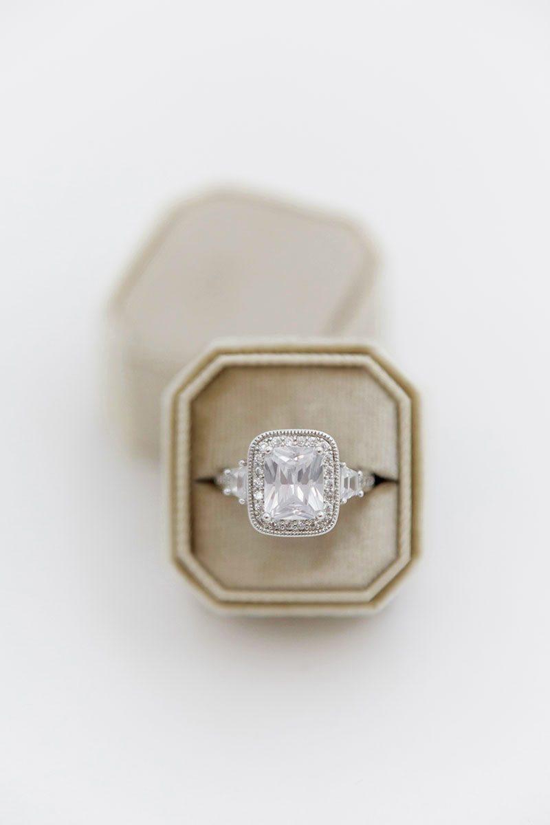 Bark-and-Berry-Beige-double-slot-vintage-wedding-embossed-monogram-octagon-velvet-ring-box-001-2