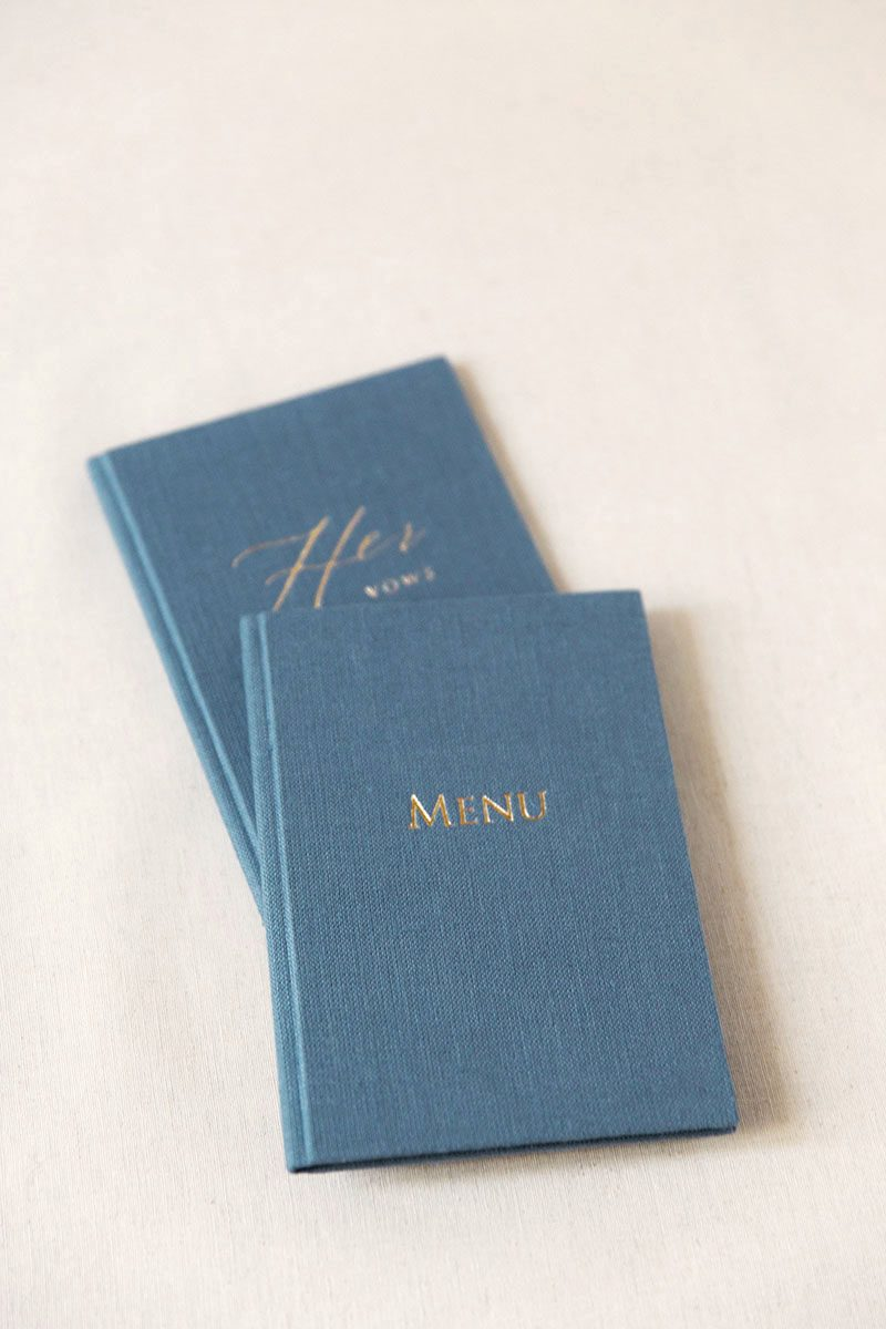 Bark-and-Berry-Stone-vintage-linen-silk-wedding-embossed-monogram-folder-menu-vows-book-001-4